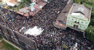 Ribuan mahasiswa memadati Jalan Gejayan Yogyakarta, Senin siang (23/9/2019) meskipun upaya penggembosan dilakukan sejak sehari sebelumnya.