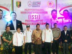 Gubernur Arinal Djunaidi (tengah) berfoto bersama para pengurus ISSI Lampung.