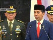 Presiden Joko Widodo dalam pidato pertamanya usai pelantikan yang dilakukan di Gedung DPR/MPR pada Minggu (20/10/2019).(KOMPAS TV)