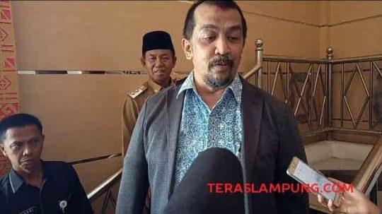 Ketua Satuan Tugas Supervisi Pencegahan (Korsubgah) Wilayah III KPK, Dian Patria usai melakukan sosialisasi pencegahan pasca penindakan, di Aula Tapis kantor Pemkab Lampung Utara, Selasa (19/11/2019).