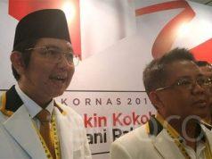 Presiden PKS Sohibul Iman dan Sekretaris Jenderal PKS Mustafa Kamal di sela Rakornas PKS di Hotel Bidakara, Jakarta Selatan, Kamis, 14 November 2019. TEMPO/Putri.