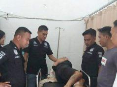Tersangka DPO pengedar narkoba, Anhar yang dilumpuhkan timah panas saat diberikan perawatan medis di RSUD Batin Mangunang, Kota Agung. (Foto: Humas Polres Tanggamus)