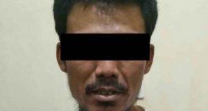 Tersangka KD, warga Kampung Karang Umpu, Kecamatan Blambangan Umpu, Way Kanan yang diamankan petugas Satres Narkoba Polres Way Kanan