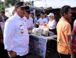 Gubernur Lampung Tinjau Operasi Pasar di Pasar Pasir Gintung
