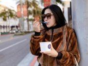 Syahrini saat pelesiran di Rodeo Drive, Beverly Hills, Los Angeles. Foto: @princessyahrini