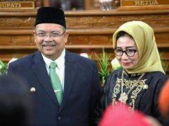 Bupati Kutai Timur Ismunandar dan istrinya yang juga Ketua DPRD Kutai Timur, Encek UR Firgasih. Foto: Istimewa