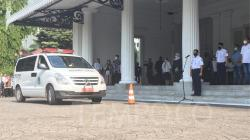 Suasana upacara penghormatan terakhir oleh Pemerintah Provinsi DKI Jakarta atas wafatnya Sekretaris Daerah Saefullah di Balai Kota, Rabu 16 September 2020. Tempo/Taufiq Siddiq