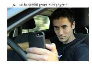 5 Foto Selfi Nyetir