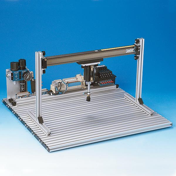 An assembled portal robot, 2 axis.