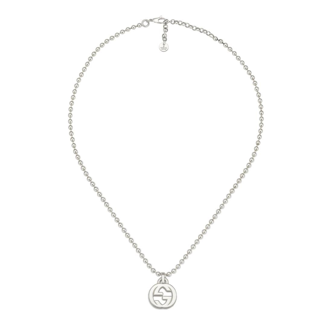 Gucci Sterling Silver Medium Interlocking G 45cm Necklace