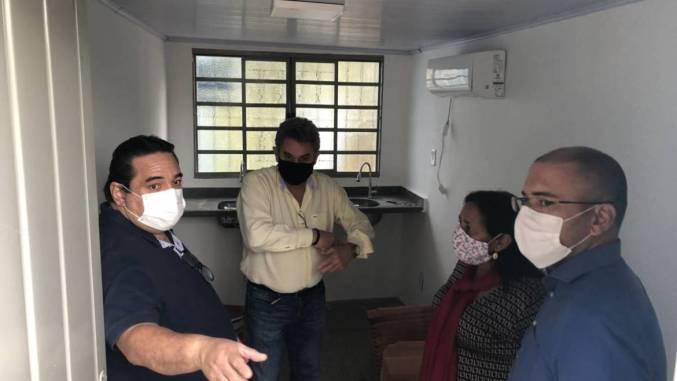 Corumbá: Iunes vistoria obras das Unidades Rurais de Saúde Albuquerque e São Gabriel