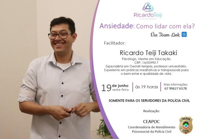 """Ceapoc realiza palestra virtual com o tema """"Ansiedade: Como lidar com ela?"""""""