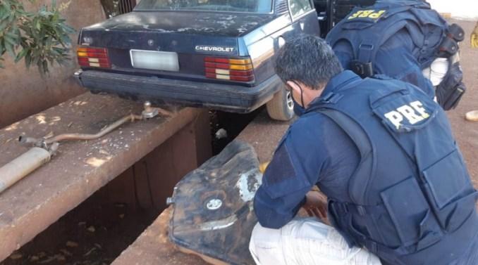 PRF apreende 21,5 Kg de maconha em Rio Brilhante