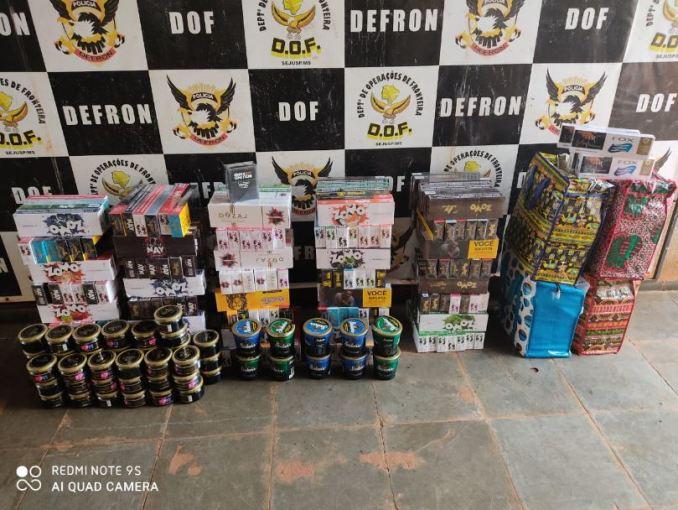 Operação Hórus: DOF apreende produtos contrabandeados do Paraguai