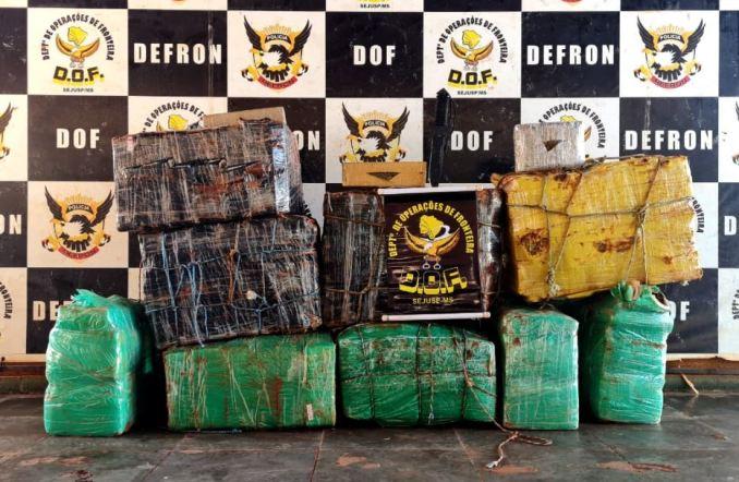 Operação Hórus: Mais de 350 quilos de drogas abandonados foram apreendidos pelo DOF