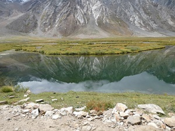 Still pool reflections in the Zanskar Valley