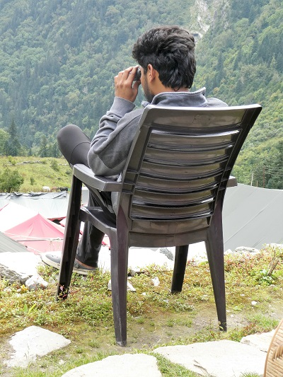 Kartik, bear spotting, Gangaria base camp, VOF, Himalayan India