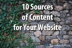 10 Sources of Content for Your Website