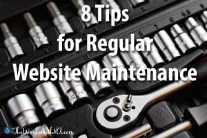 8 Tips for Regular Website Maintenance