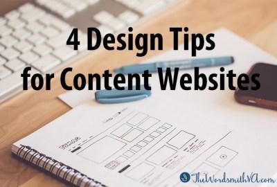 4 Design Tips for Content Websites