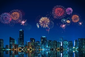 Fireworks over Miami political story picture