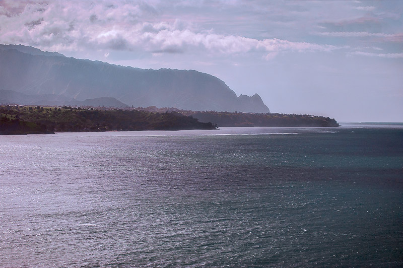 Oceean with Bali Hai in distance