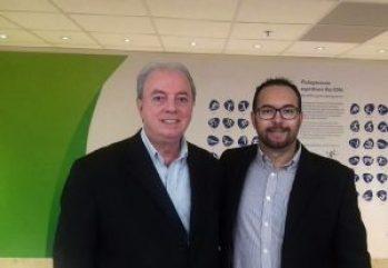 Nilo Sérgio, Secretário de Estado de Turismo, e Rafael Canto, Diretor de Projetos e Eventos da Secretaria de Turismo de Teresópolis no Rio Média Center