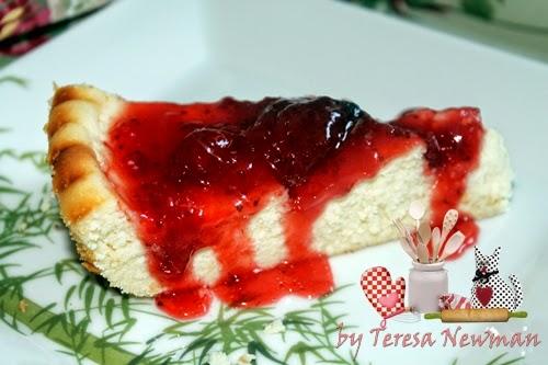 Torta de ricota com de geleia de Morango, Facil de fazer e delicia de comer.