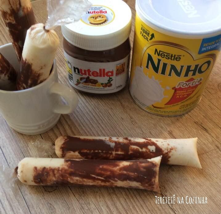 Dindin gourmet de Leite ninho com Nutella