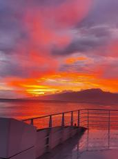 Tahiti Sunset on Terevau Temauiraii Dehors-15-avril-2020
