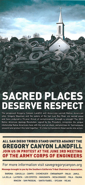 Stop Gregory Canyon:  Save Sacred Sites and Clean Drinking Water