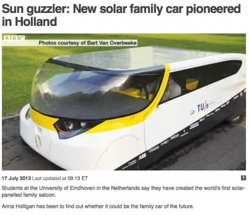 Solar Powered Family Car