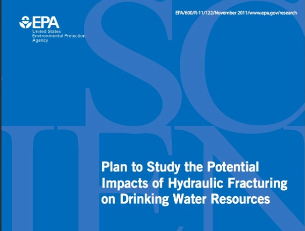 Plan to study the potential impacts of hydraulic fracturing on drinking water resources
