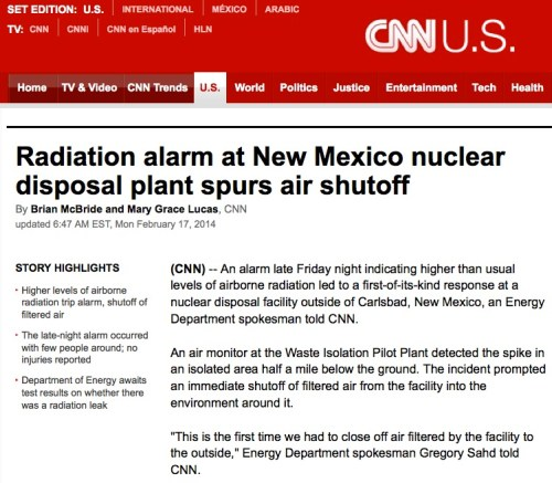 Nuclear event: Carlsbad New Mexico