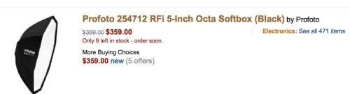 Behold: a 5 inch softbox for $349