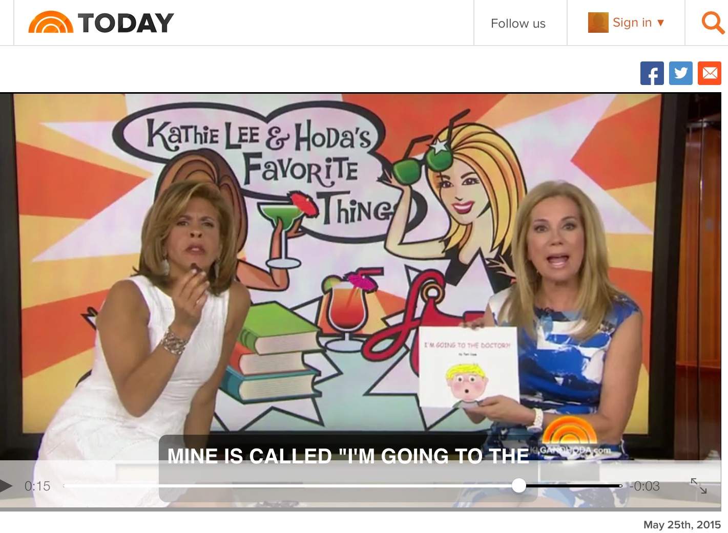 I'M GOING TO THE DOCTOR?! KATHIE LEE GIFFORD TERI CASE TODAY SHOW