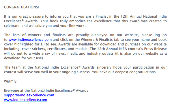 National Indie Excellence Award