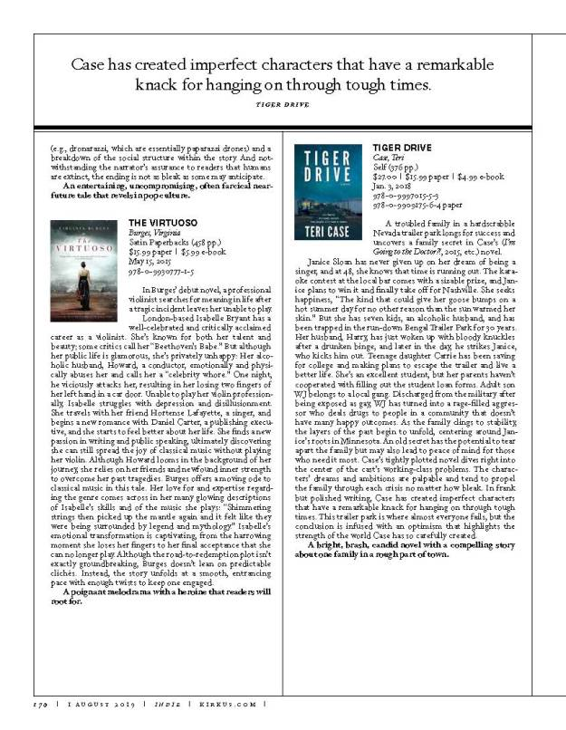 "Kirkus Reviews Magazine, ""Up All Night"" Issue, Page 170"