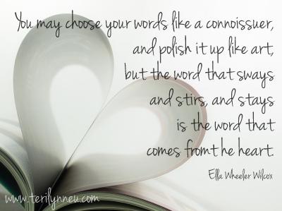 Speak from Your Heart www.terilynneunderwood.com