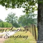 Adding Anything Affects Everything www.terilynneunderwood.com