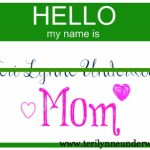 dear weary mom you are known www.terilynneunderwood.com/blog