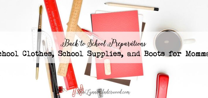Back to School Preparations