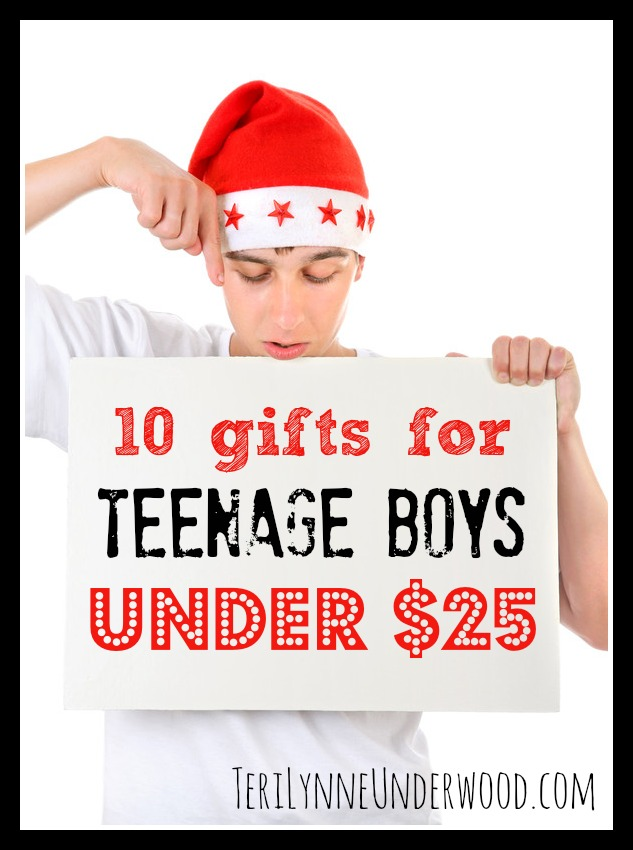 10 gifts for teenage boys under $25 || TeriLynneUnderwood.com