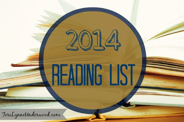 2014 Reading List ||TeriLynneUnderwood.com