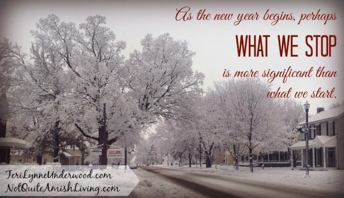 What will you stop in 2014?