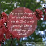 28 Days, 28 Ways: Pray for His Wife || Teri Lynne Underwood