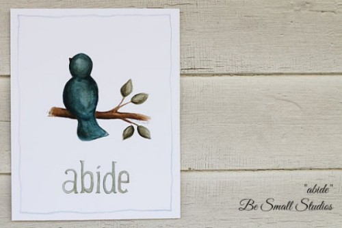"""abide"" from Be Small Studios is a great mother's day gift idea!"
