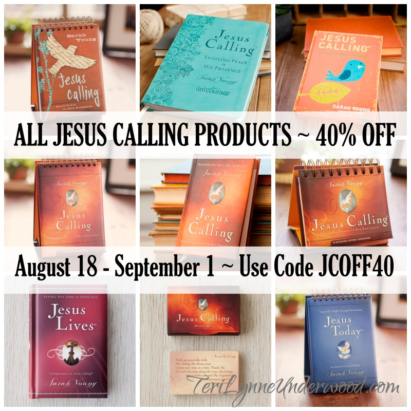 Jesus Calling Product Line on sale - 40% off!