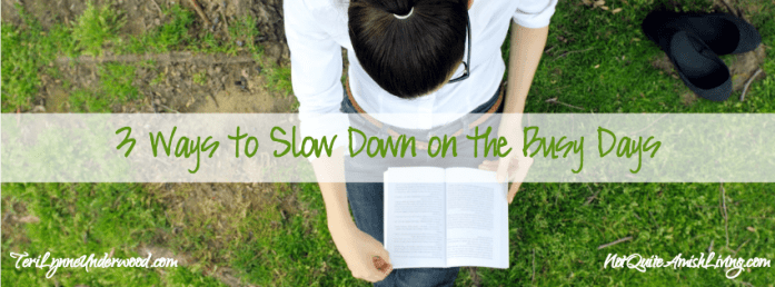 3 Ways to Slow Down on the Busy Days