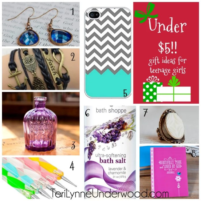 gift ideas for teenage girls under $5